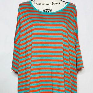 Lularoe Irma Top Shirt Striped High Low Slinky